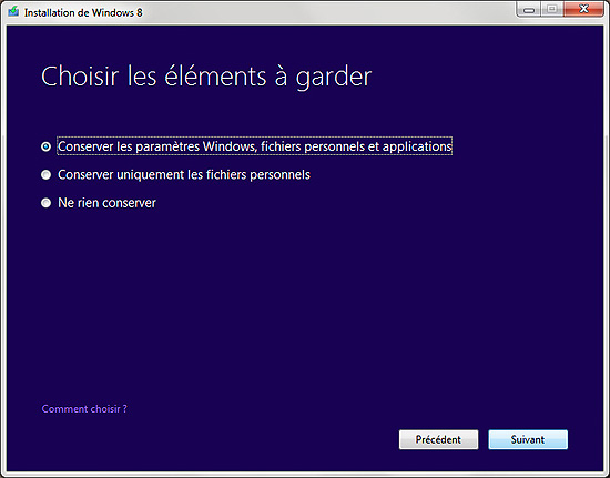 PROCEDUR DE MISE A JOUR WINDOWS 7 VERS WINDOWS 8 Upgrade-10