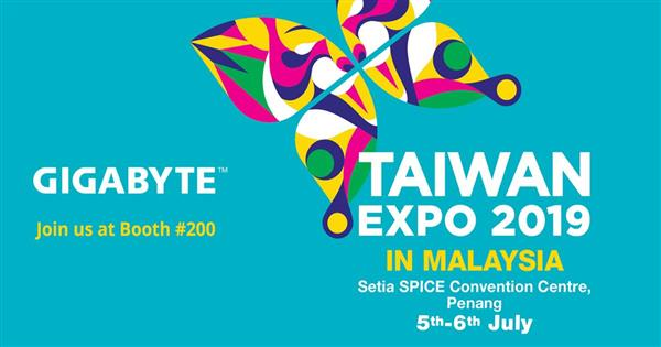Taiwan Expo presents and shares Taiwan's experience in various industries such as technology, agriculture, design, medical care, education, and tourism. This year GIGABYTE is proud to be part of Taiwan Expo 2019 in Penang, Malaysia and very excited to bring successful solutions such as smart IoT, Hybrid Cloud and Software Defined Storage solutions to your eyes.