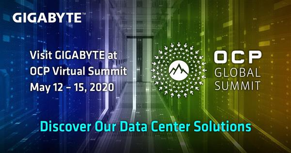 GIGABYTE brings three solutions for future data center at OCP Virtual Summit 2020.