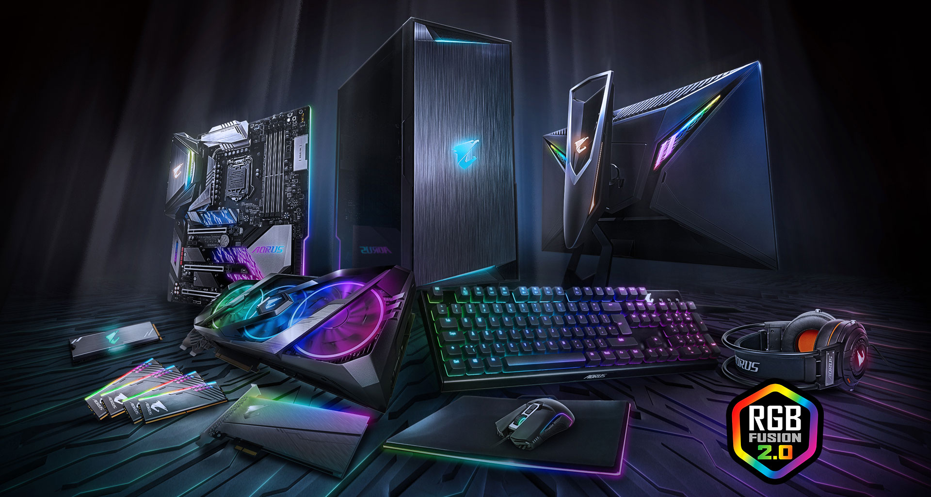 Z390 Aorus Elite Rev 10 Motherboard Gigabyte Global Falcon 110 Wiring Diagram With A Dazzling Array Of Products Supported Rgb Fusion 20 Is The Software That Brings It All Together Letting Your Accessories Synchronize To Same