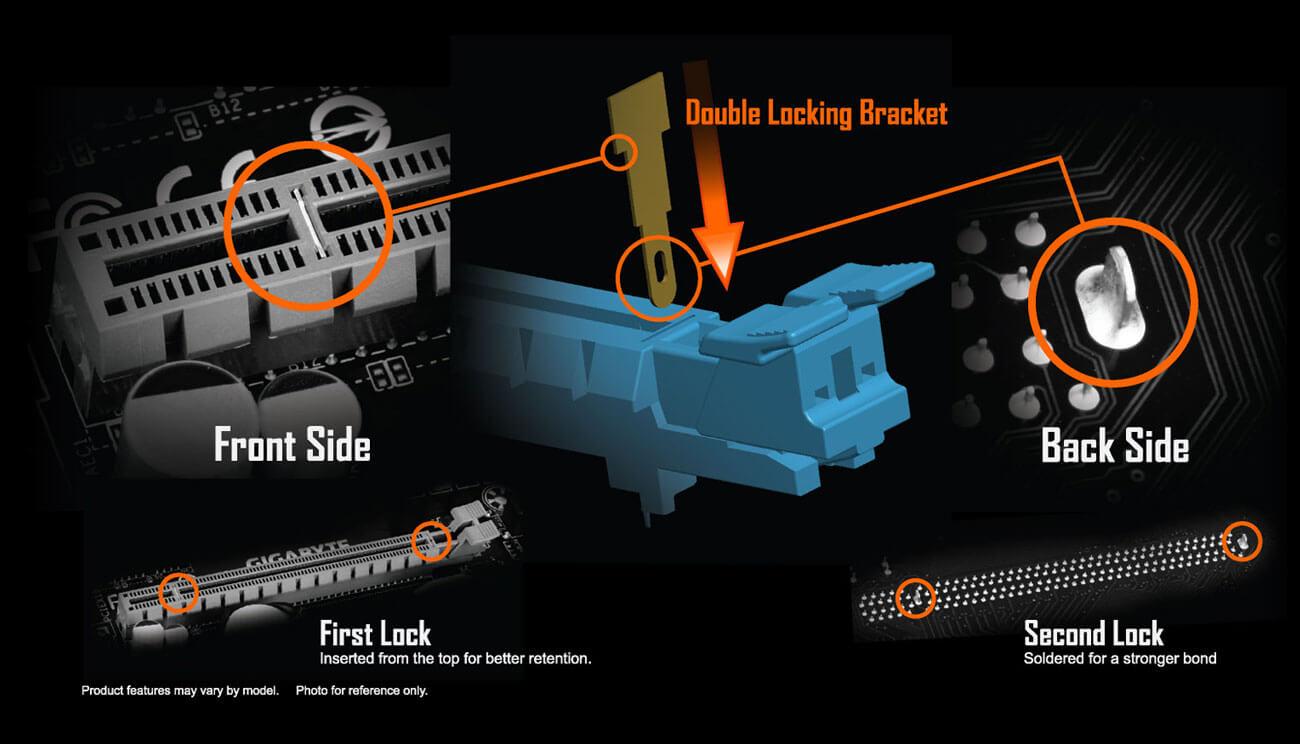 Z390 Aorus Elite Rev 10 Motherboard Gigabyte Global Falcon 110 Wiring Diagram Patented Double Locking Bracket