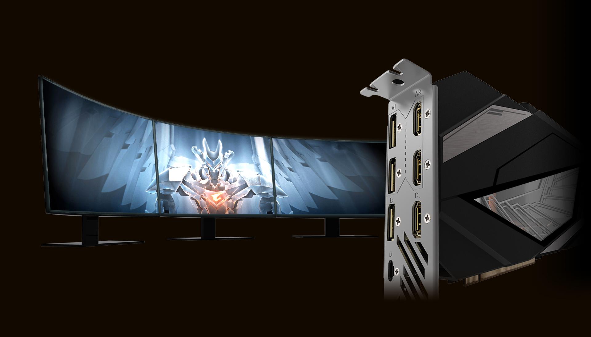 AORUS GeForce RTX™ 2080 Ti XTREME WATERFORCE 11G Powered by GeForce RTX™ 2080 Ti 240mm radiator with 2x 120mm RGB fans WATERFORCE all-in-one cooling system کارت گرافیک گیگابایت اوروس 2080 Ti جی فورس آر تی آیکس اکستریم واترفورس 11 گیگابایت با کولینگ مایع مدار بسته