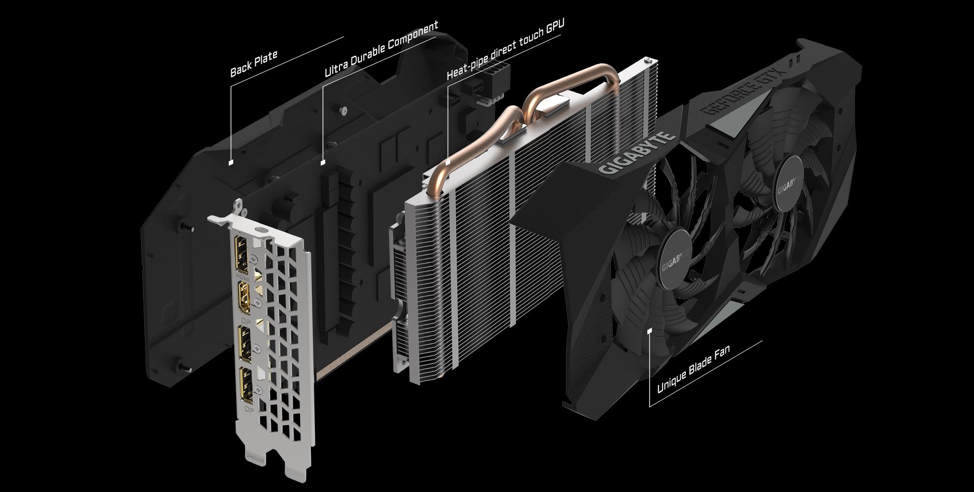 GeForce® GTX 1660 Ti WINDFORCE OC 6G | Graphics Card