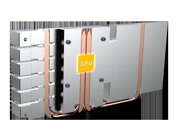 Gigabyte GeForce GTX 1650 | HEAT PIPES DIRECT TOUCH GPU