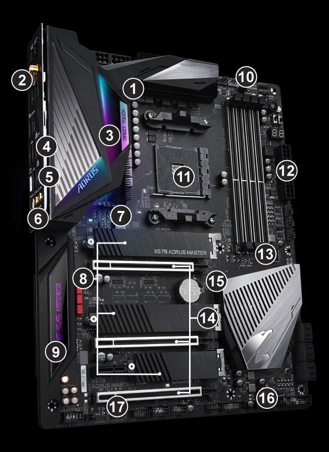 X570 AORUS MASTER (rev  1 0) | Motherboard - GIGABYTE U S A