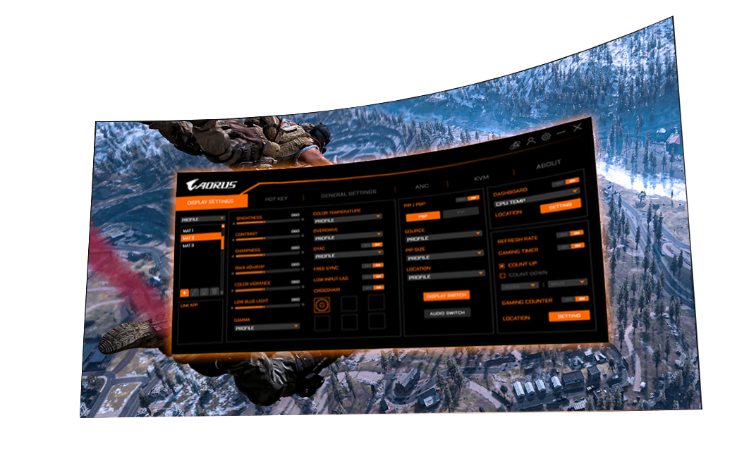 AORUS CV27Q Gaming Monitor 2k - 165Hz - 1ms 23