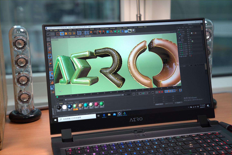 AERO Creator Laptop 3D Model Rendering