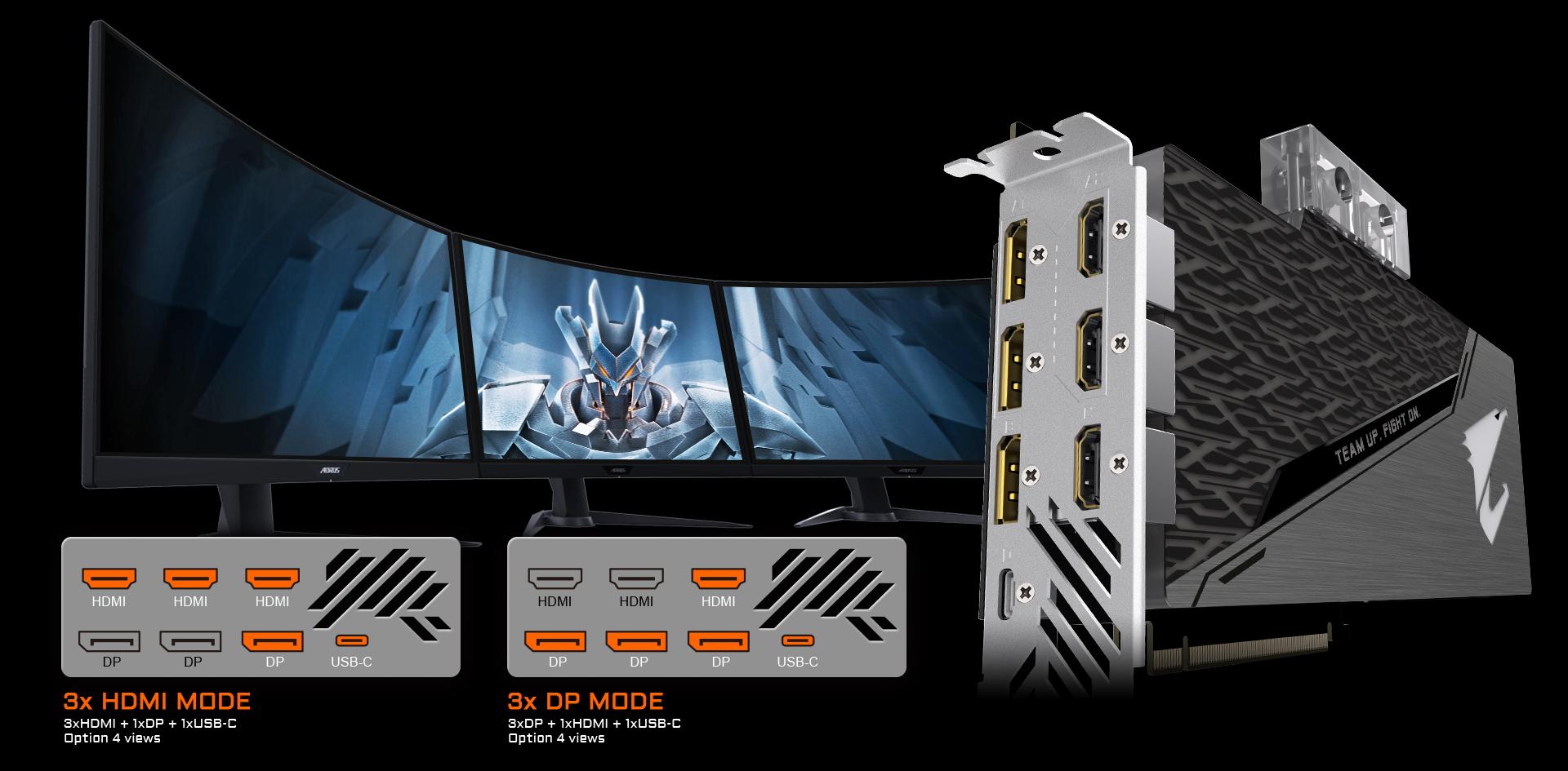 8G Tarjeta de video refrigeraci/ón agua y fre/ón Gigabyte Aorus GeForce RTX 2080 Super Waterforce GV-N208-SAORUS W-8GC