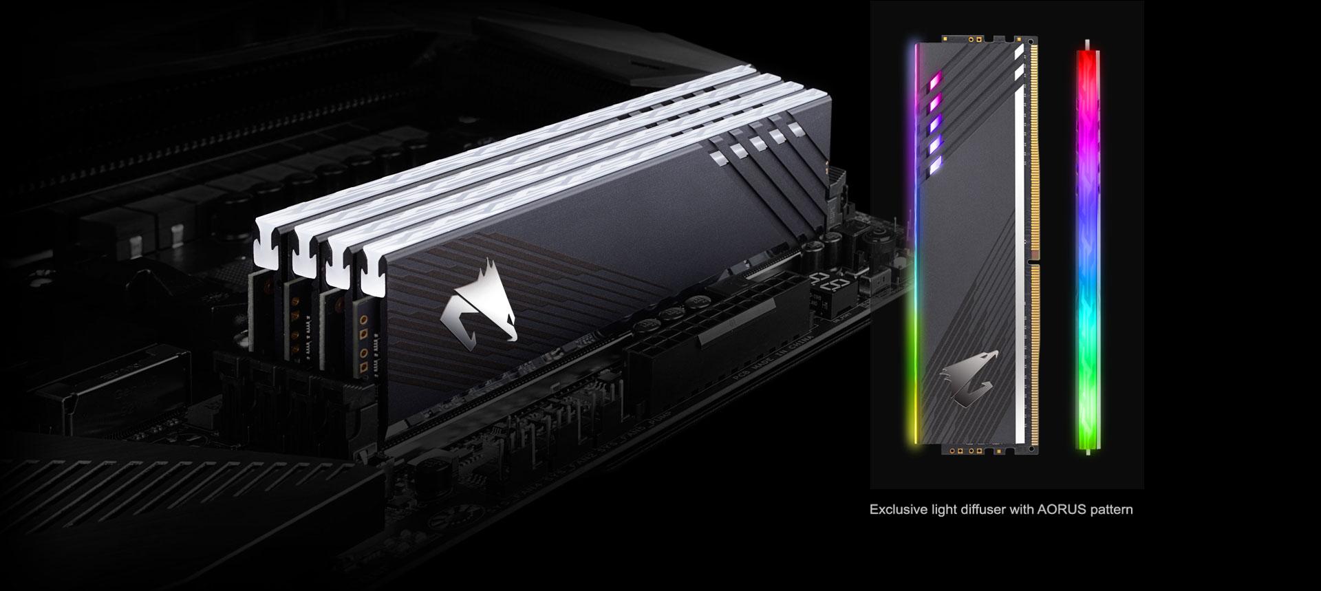 Memoria Ram Kit Gigabyte AORUS RGB 2 x 8GB + 2 RGB INFUSED DEMO MODULE  DIMM DDR4-3600