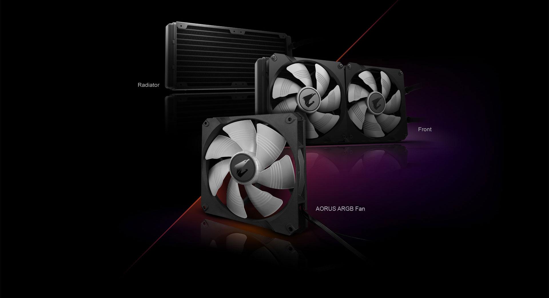 AORUS RGB Liquid Cooler 280 - Liquid cooling system CPU water block - LGA1151 Socket / LGA1155