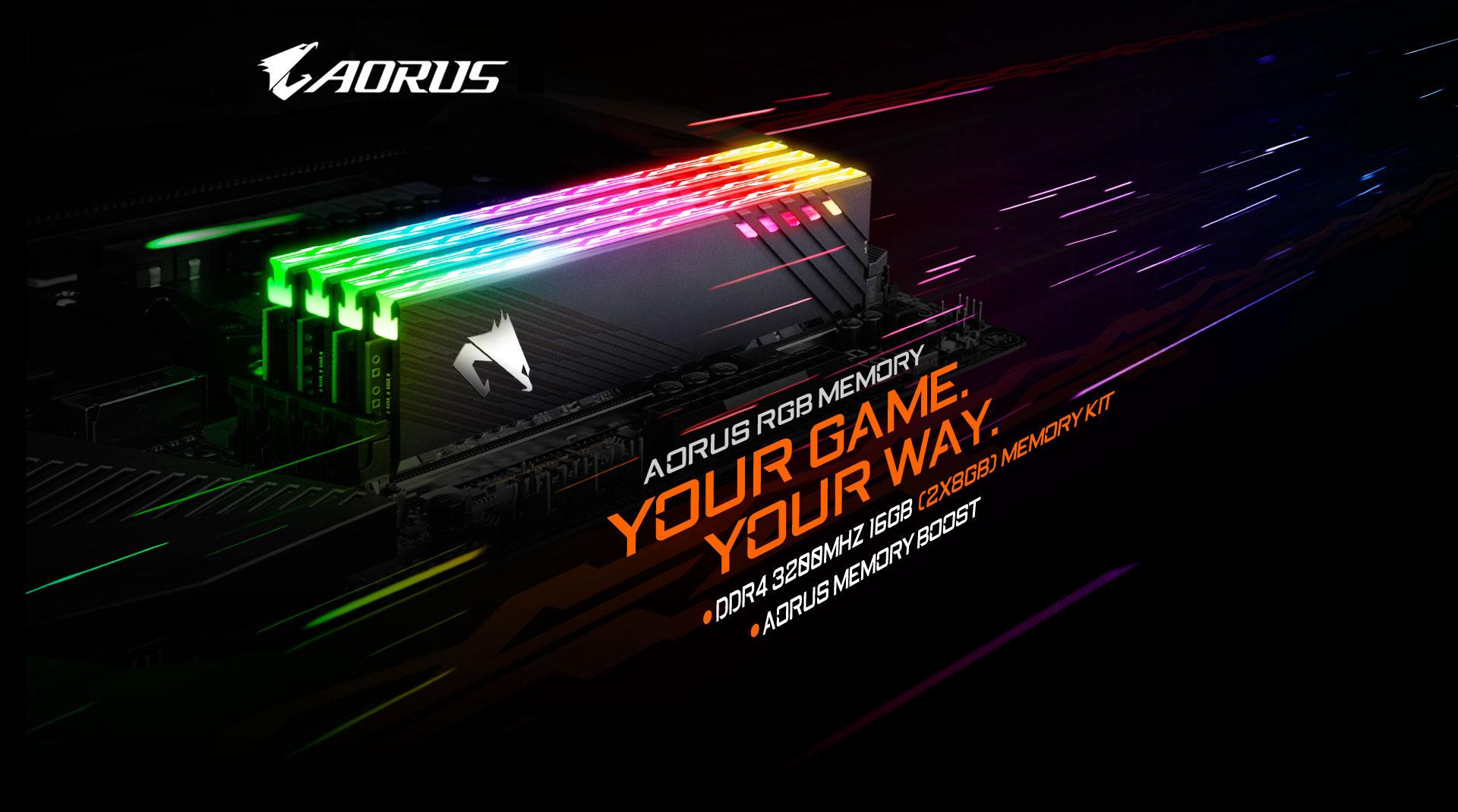 Gigabyte AORUS RGB Memory 16GB (2x8GB) 3200MHz - GP-ARS16G32 5