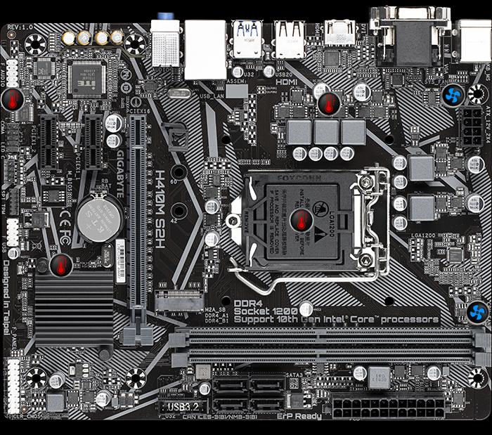 Gigabyte H410M S2H (rev. 1.0) Motherboard - Intel H410 Chipset 14
