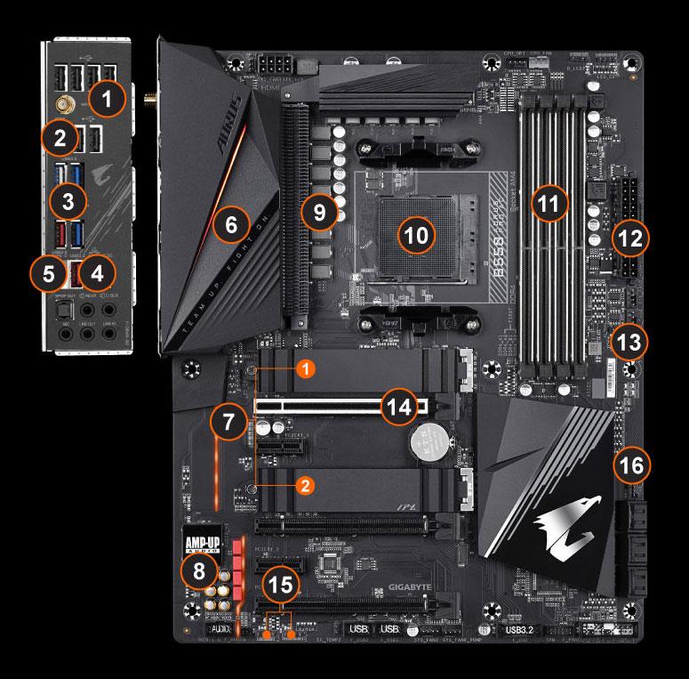 B550 Aorus Pro Ac Rev 1 X Key Features Motherboard Gigabyte Global