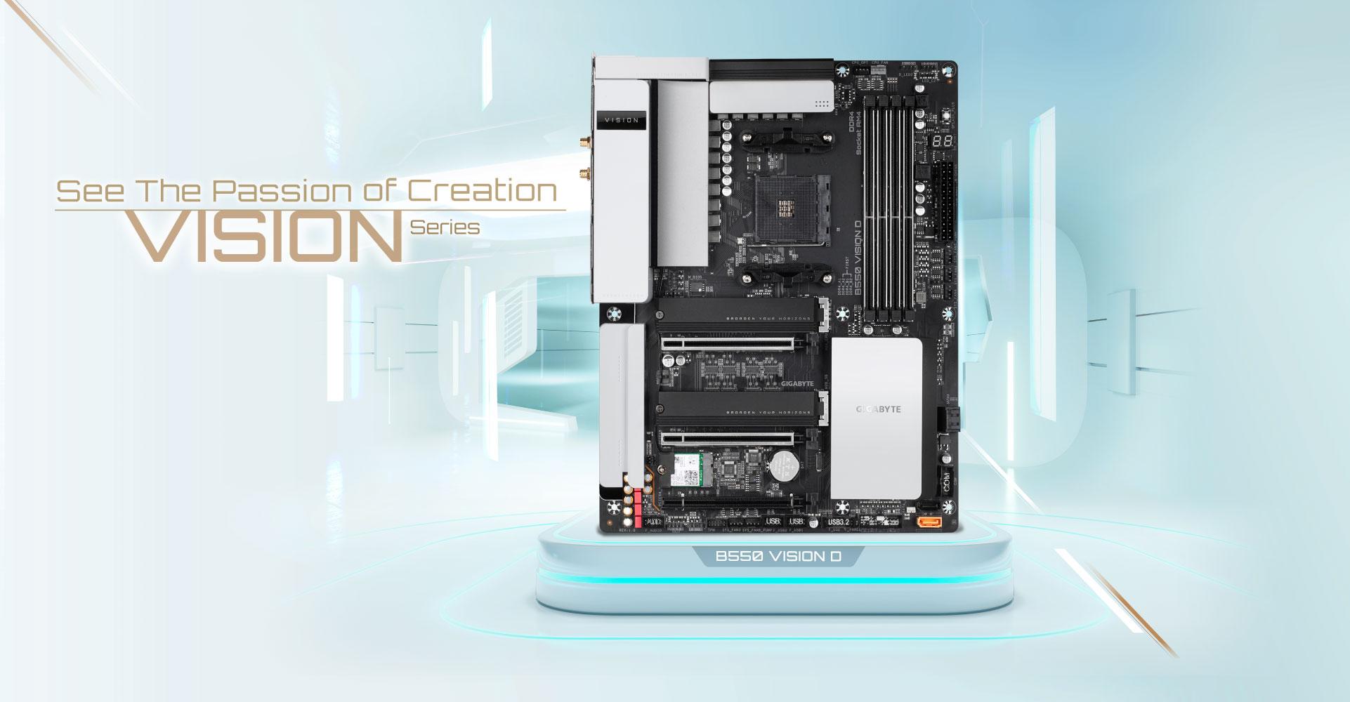 B550 Vision D Rev 1 0 Key Features Motherboard Gigabyte Global