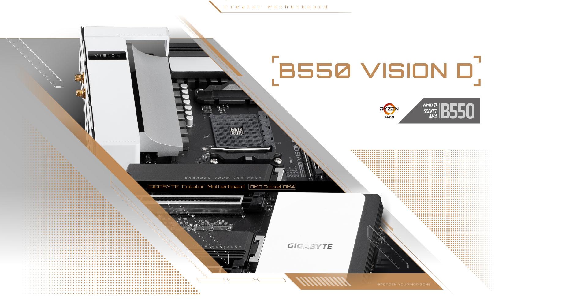 Review Gigabyte B550 VISION D 1