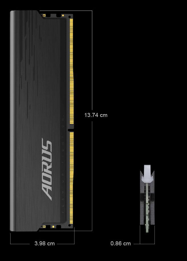 Gigabyte AORUS RGB Memory DDR4 16GB (2x8GB) 4400MHz - GP-ARS16G44 30