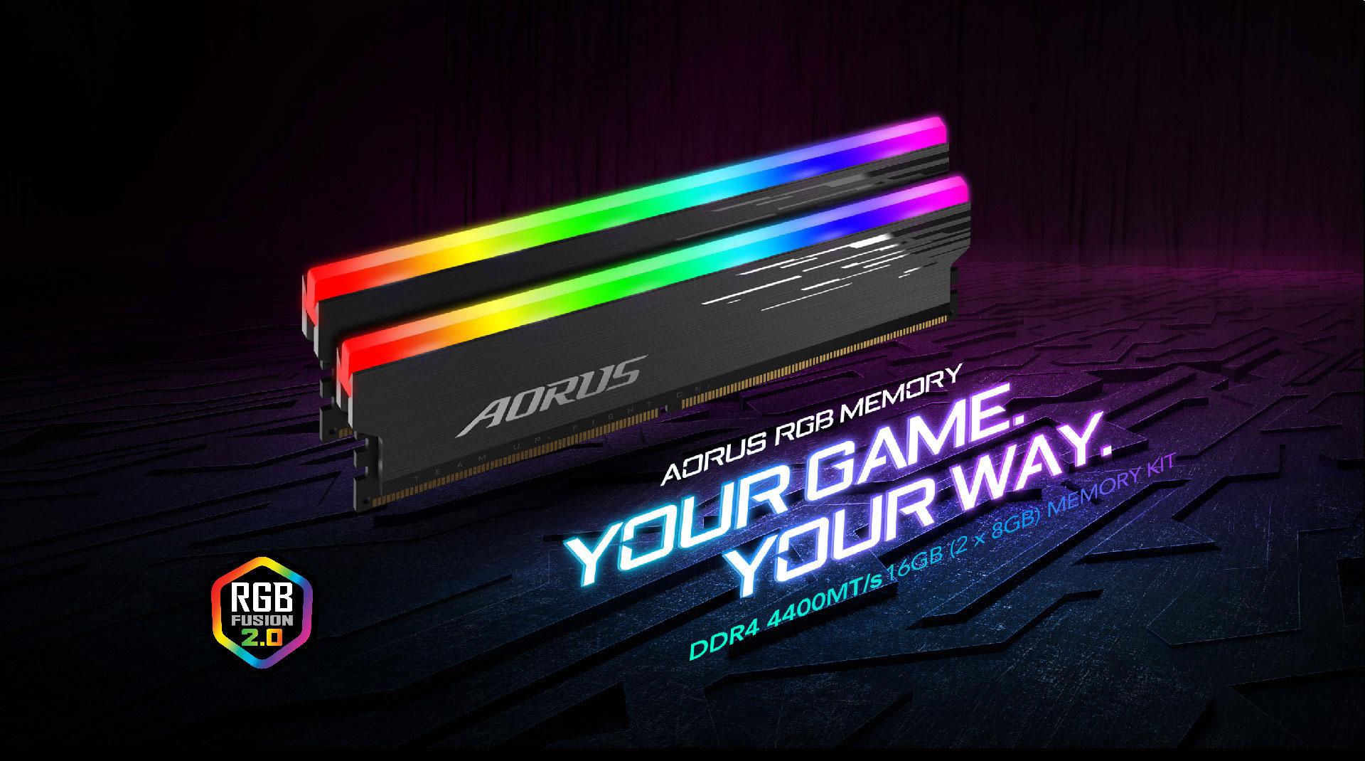 Gigabyte AORUS RGB Memory DDR4 16GB (2x8GB) 4400MHz - GP-ARS16G44 6