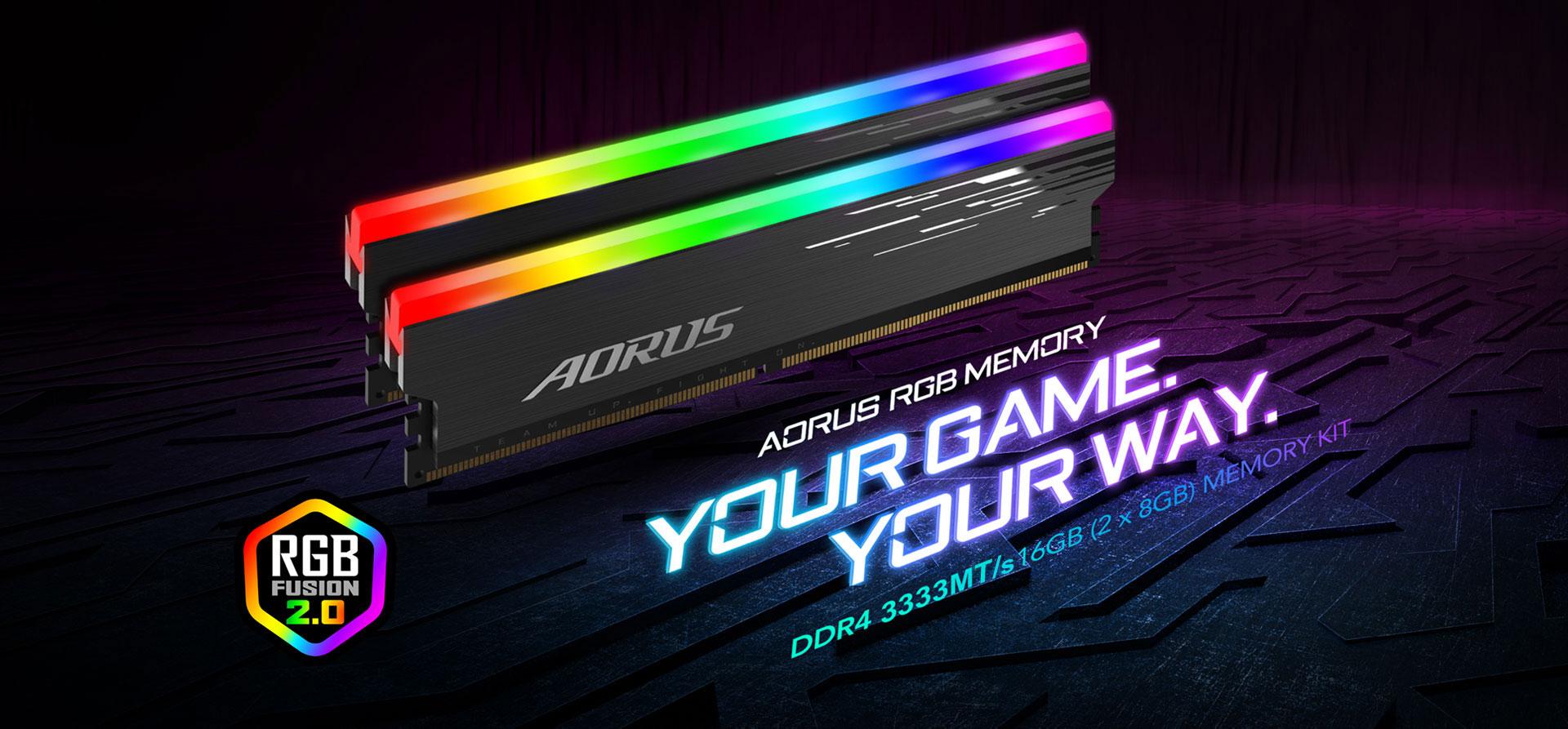 Gigabyte AORUS RGB Memory DDR4 16GB (2x8GB) 3333MHz 6