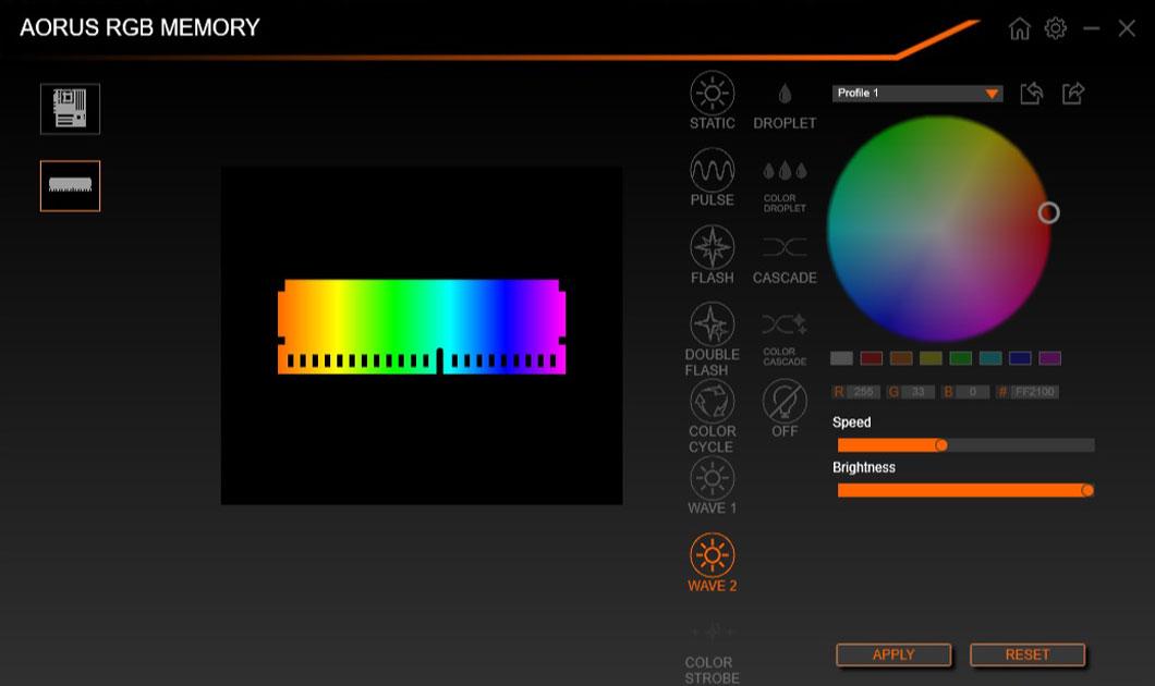 Gigabyte AORUS RGB Memory DDR4 16GB (2x8GB) 3333MHz 24
