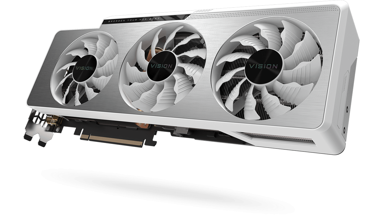 GeForce RTX™ 3080 VISION OC 10G (rev. 2.0) Gallery | Видеокарты - GIGABYTE  Russia