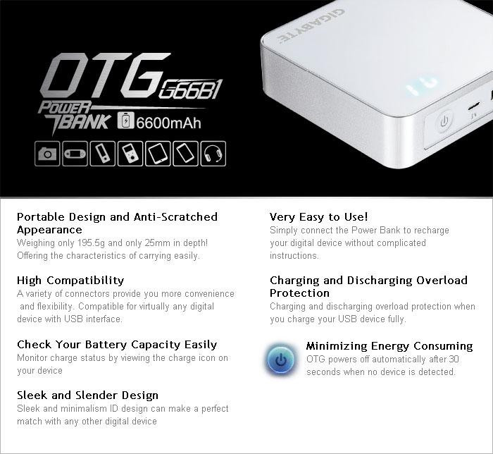 Otg G66b1 Usb Charger Gigabyte Global