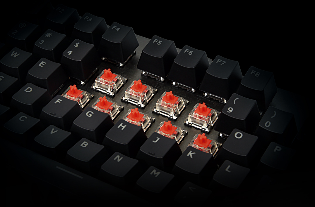 d257f391cb0 ... linear key response with an optimized actuation force perfect for long,  extended gaming action. Reduced key actuation distance of 2mm ensures swift  ...