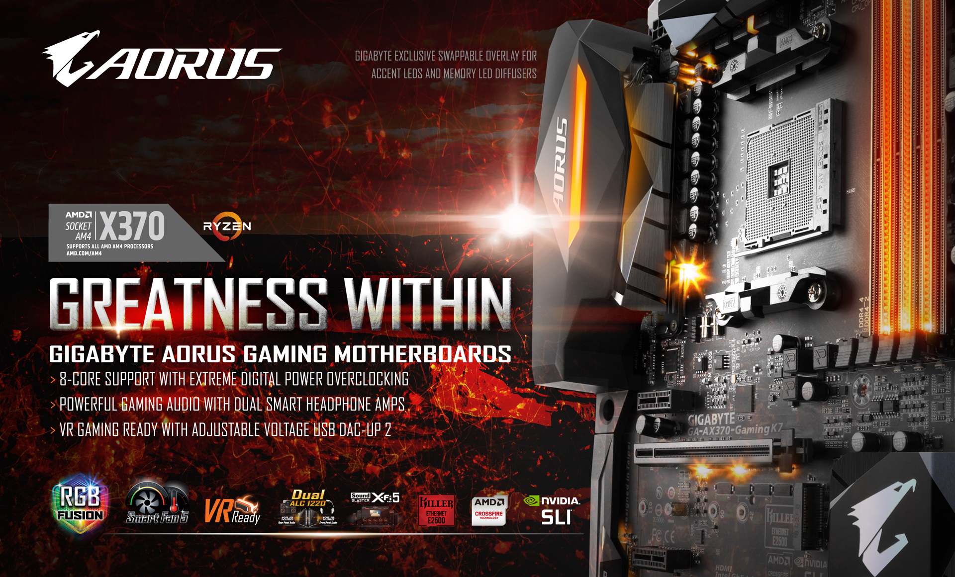 Ga Ax370 Gaming K7 Rev 10 Motherboard Gigabyte Usa Ram 7 Way Plug Wiring Diagram Amd Introduces The Latest Ryzen 2000 Series Processors To Provide Computing Power For Budget Need Gigabytes Full Line Of Am4 Chipset