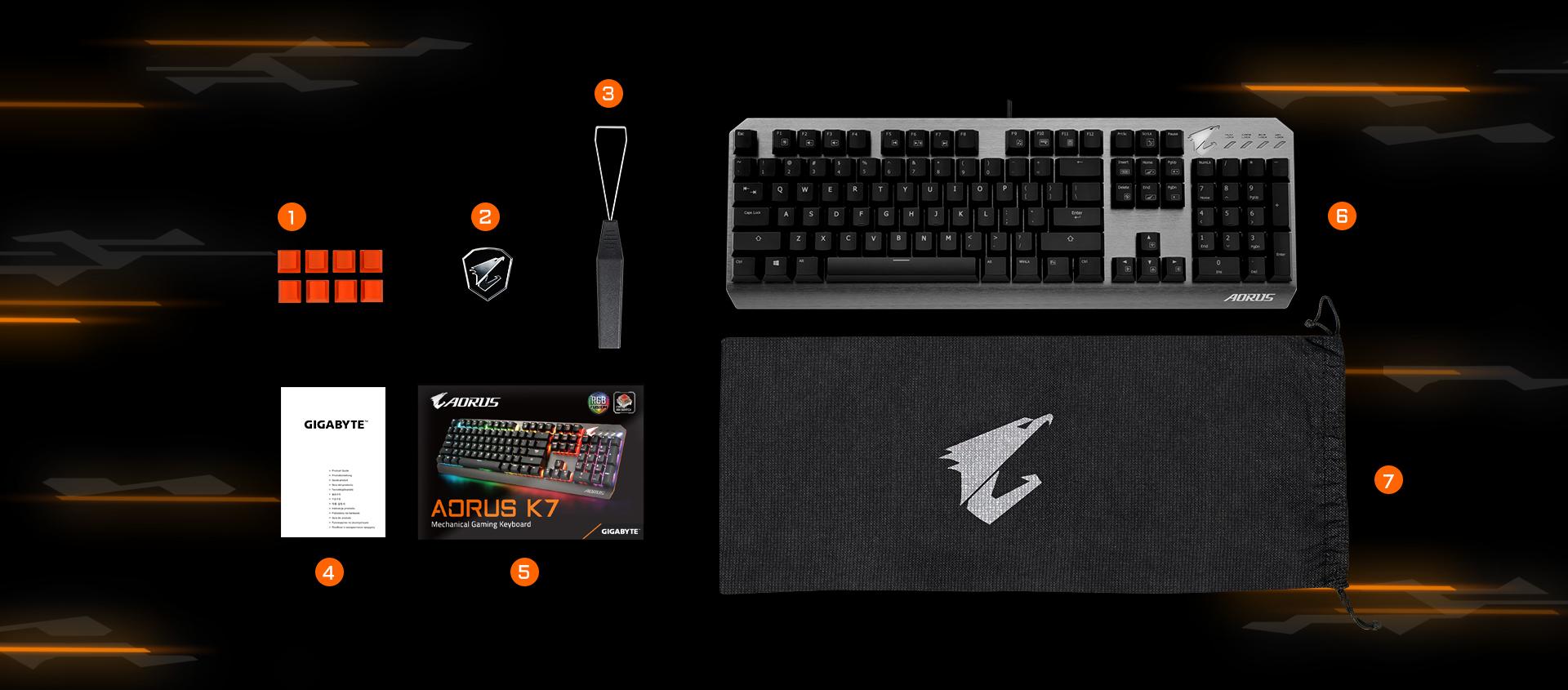 0de4bf0e948 AORUS K7 | Keyboard - GIGABYTE Global