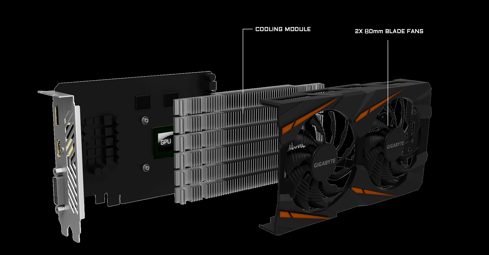 REV 2 GV-RX560GAMING SCHEDA VIDEO VGA Gigabyte AMD Radeon RX 560 Gaming OC 4GD