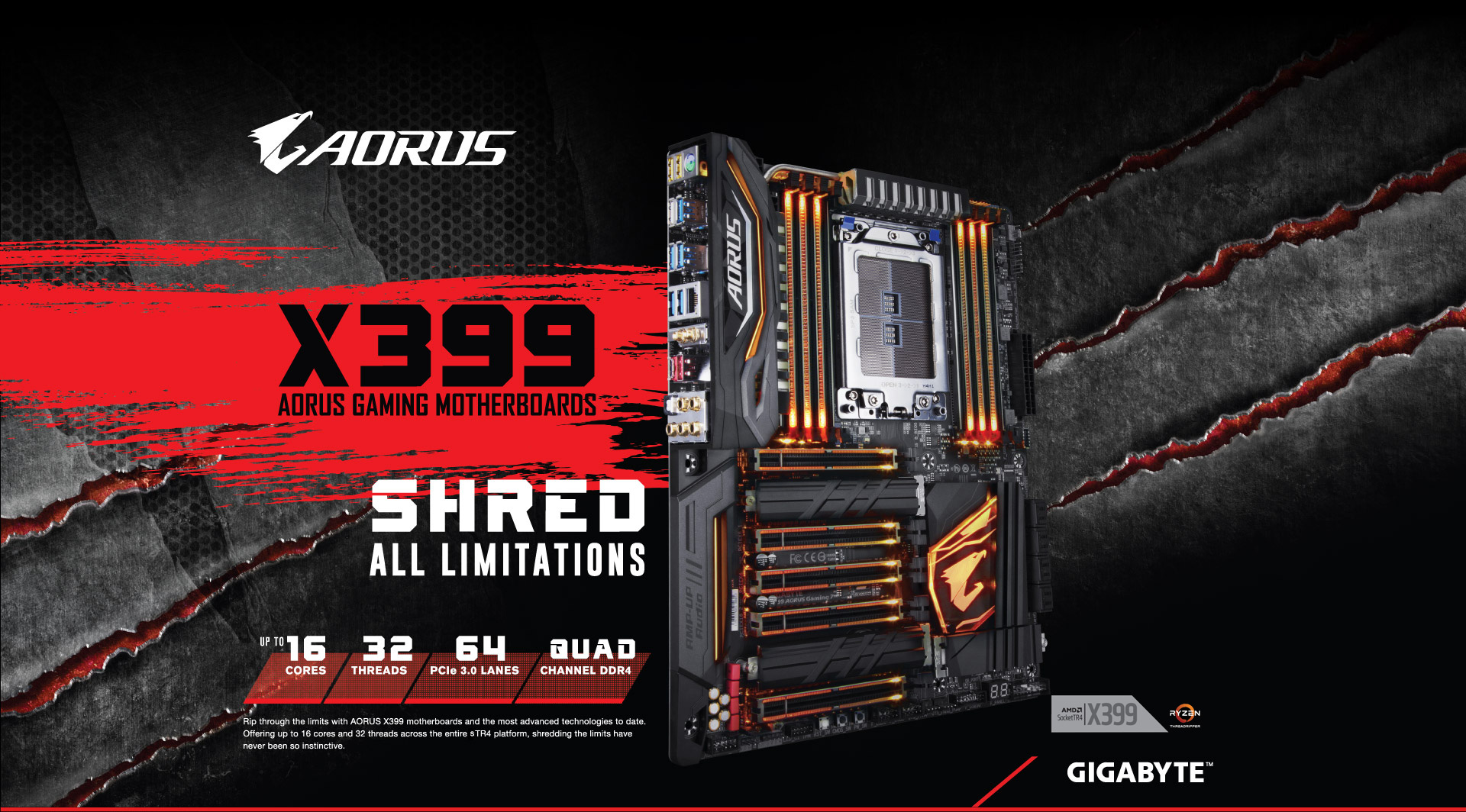X399 Aorus Gaming 7 Rev 10 Motherboard Gigabyte Usa Diagram Besides 3 Way Dimmer Switch Wiring Together With Ultra Durable
