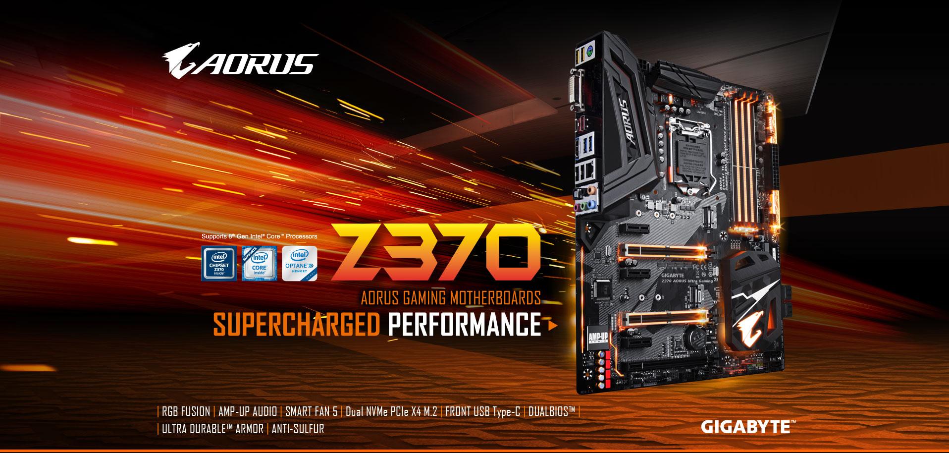 Z370 AORUS Ultra Gaming (rev  1 0) | Motherboard - GIGABYTE Global