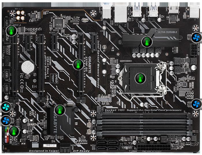 Z370P D3 (rev  1 0) | Motherboard - GIGABYTE U S A