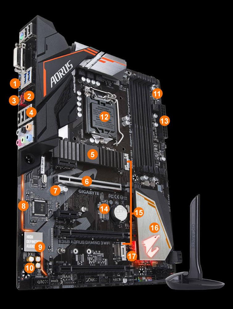 B360 Aorus Gaming 3 Wifi Rev 10 Motherboard Gigabyte Global V Gen Memori Komputer 1
