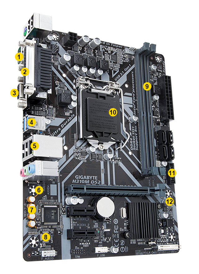 H310M DS2 (rev  1 0) | Motherboard - GIGABYTE Global