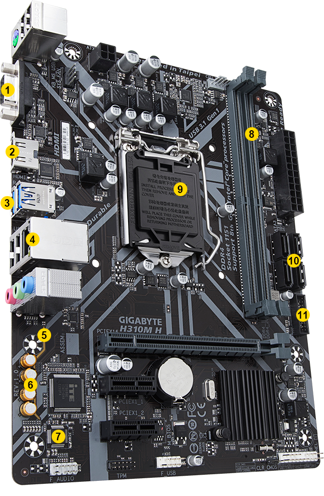 H310M H (rev  1 0) | Motherboard - GIGABYTE Global