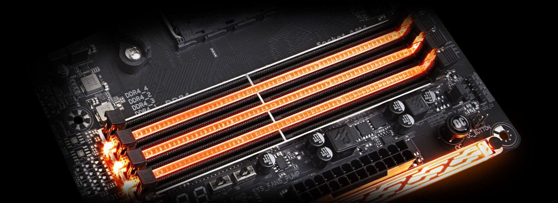X470 Aorus Gaming 7 Wifi Rev 10 Motherboard Gigabyte Global 2 Speed Fan Wiring Diagram Multi Light Zones Are Equipped With High Brightness Rgb Leds Namely The Memory Armor Audio Pci Express And Swappable Overlay For Accent Led