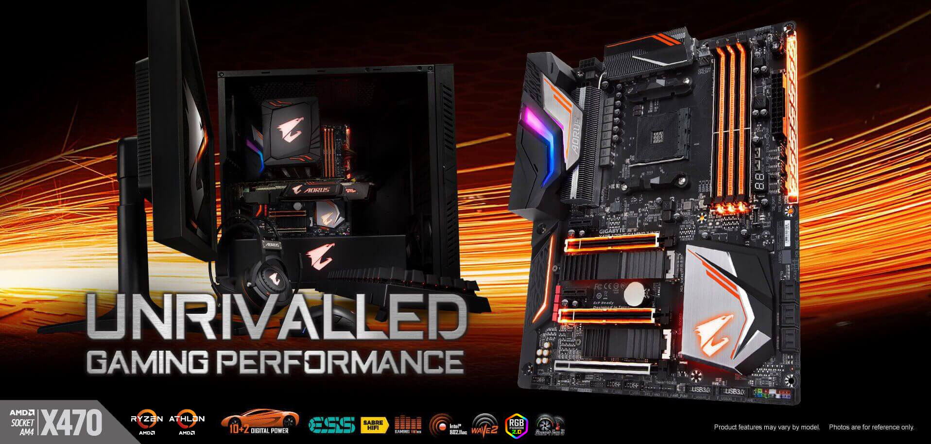 X470 Aorus Gaming 7 Wifi Rev 10 Motherboard Gigabyte Global There Are 2 Boards The Main Board And A Second One For Controls Design Concept