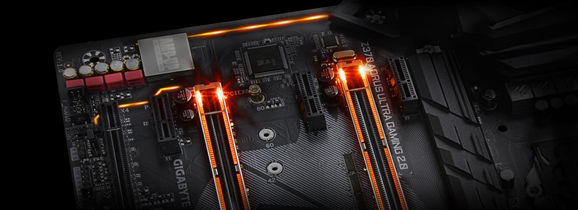 Z370 Aorus Ultra Gaming 20 Op Rev 10 Mainboards Gigabyte Circuit With It39s Own Color That Way I Have An Overlay Of Each Namely The Memory Audio Pci Express And Swappable For Accent Led When Its All Set Done Your System Will Shine Like Never Before