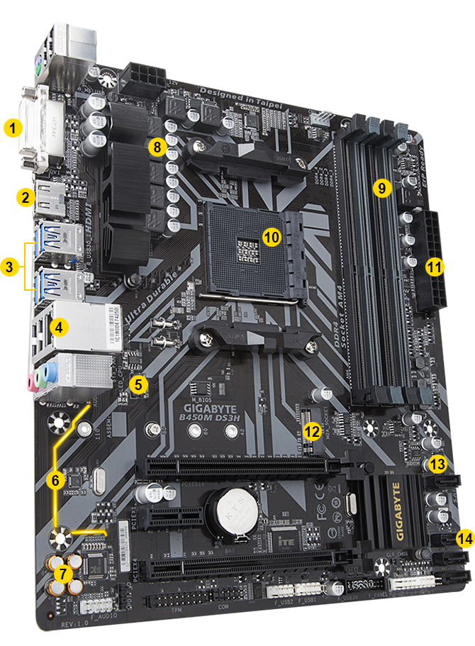 B450M DS3H (rev  1 0) | Motherboard - GIGABYTE Global