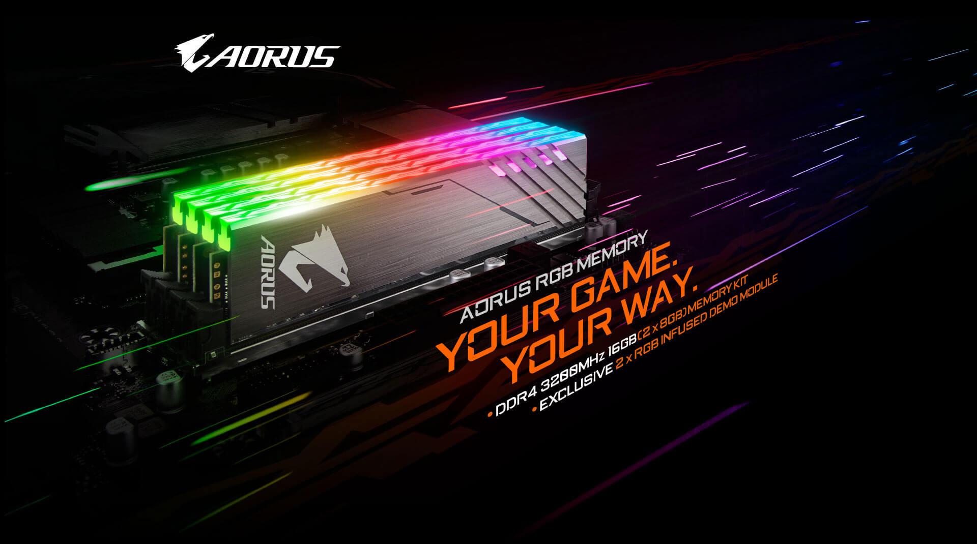 AORUS RGB Memory 16GB (2x8GB) 3200MHz (With Demo Kit