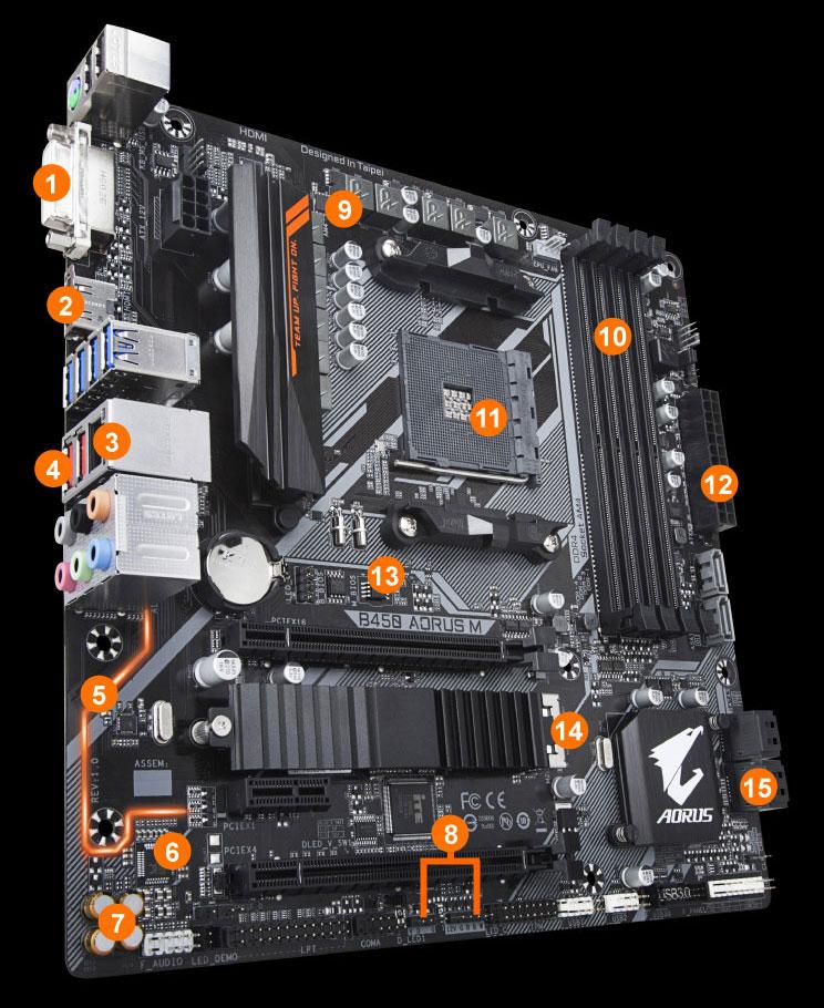 B450 AORUS M (rev  1 0) | Motherboard - GIGABYTE Global