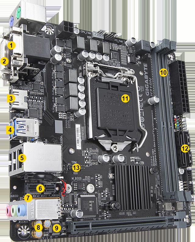 H310N (rev  1 0) | Motherboard - GIGABYTE Global