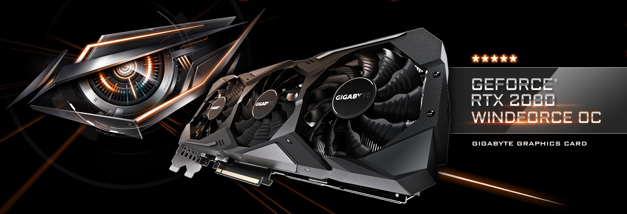 GeForce RTX™ 2080 WINDFORCE OC 8G | Graphics Card - GIGABYTE