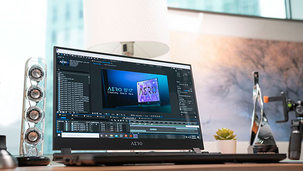 AERO Creator Laptop Video Editing