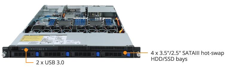 R161-340 (rev  100/200) | Rack Server - GIGABYTE Argentina
