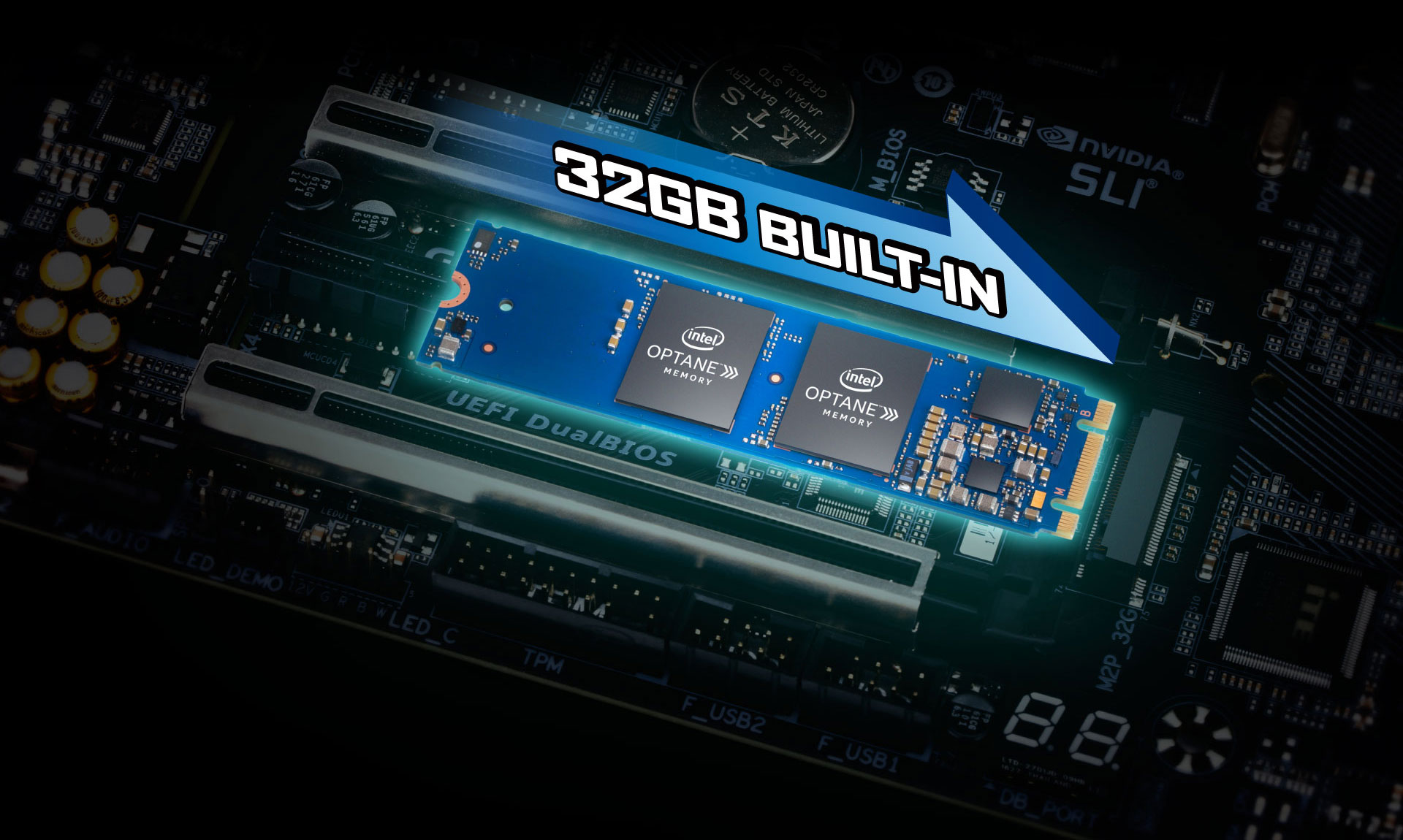 GIGABYTE Motherboards Built-in 32GB Intel Optane Memory