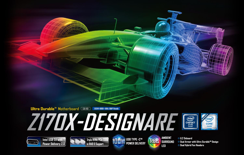 Ga Z170x Designare Rev 10 Motherboard Gigabyte Global Sata To Usb Wiring Diagram Graphics Support For Thunderbolt 3