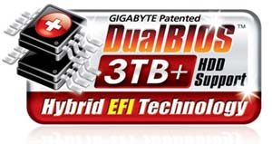 DualBIOS™ 3TB+ HDD Support