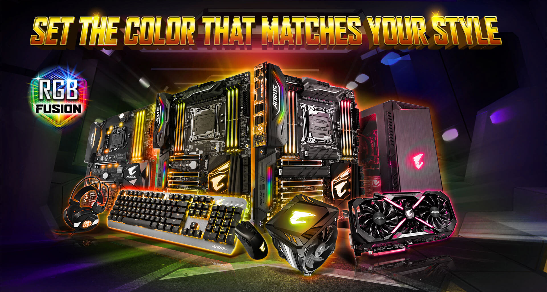Z370 Aorus Gaming 7 Rev 10 Motherboard Gigabyte Usa Lightsaber Wiring Diagram For Soundboard With A Dazzling Array Of Products Supported Rgb Fusion Is The Software That Brings It All Together Letting Your Accessories Synchronize To Same Beat