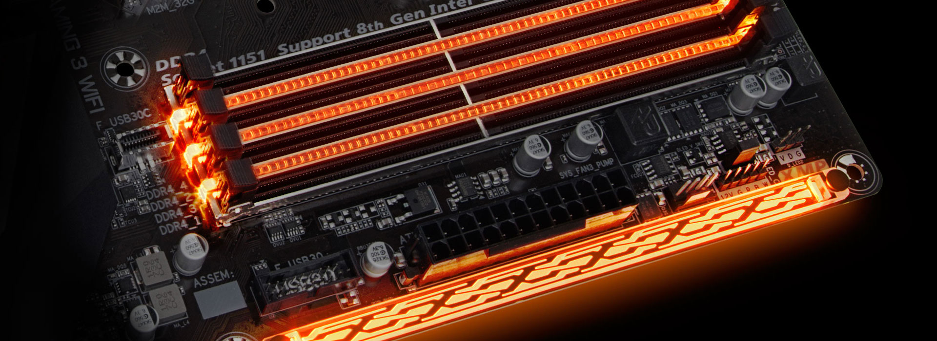H370 Aorus Gaming 3 Wifi Rev 10 Motherboard Gigabyte Usa Power Connectors Of The Front Panel Connector For Your Reference Namely Memory Pch Audio And Swappable Overlay Accent Led When Its All Set Done System Will Shine Like Never Before